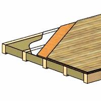 Деревянное перекрытие дома